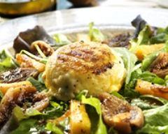 Recette salade de mesclun aux crottins de chèvre chauds