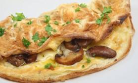 Omelette aux champignons et persil pour 5 personnes