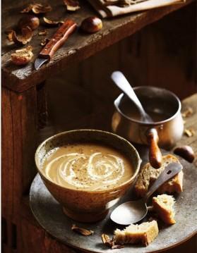 Soupe de châtaignes et de céleri-rave pour 4 personnes