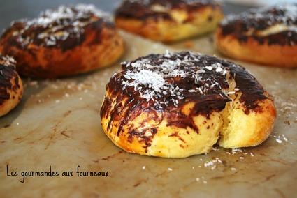 Recette de brioche escargot à la noix de coco et au chocolat