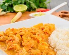 Recette crevettes au curry et lait de coco