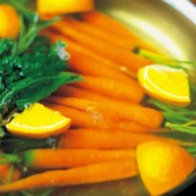 Carottes au beurre de thym, cumin et orange pour 6 personnes ...