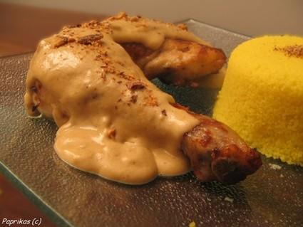 Recette de poulet sauce miel aux éclats d'amande
