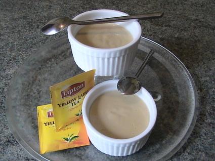 Recette de crèmes au thé, et à l'arôme d'orange