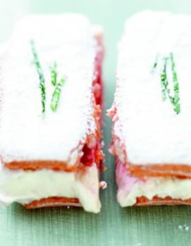 Tiramisu express, fraises et basilic pour 4 personnes