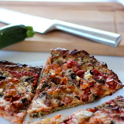 Pizza originale aux courgettes