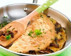 Recette omelette aux champignons