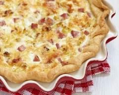Recette quiche raclette aux lardons et jambon