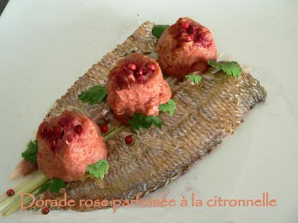 Recette de dorade rose parfumée à la citronnelle