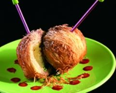 Recette pommes ariane fourrées de kadaïff, pistache, raisins secs ...