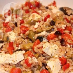 Recette salade de blé à la grecque – toutes les recettes allrecipes