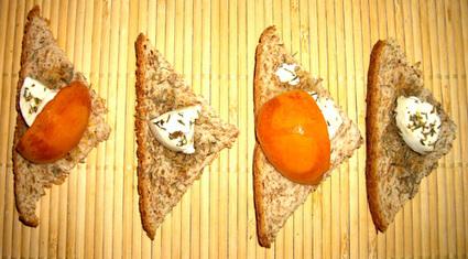 Recette de toasts abricot, chèvre et miel