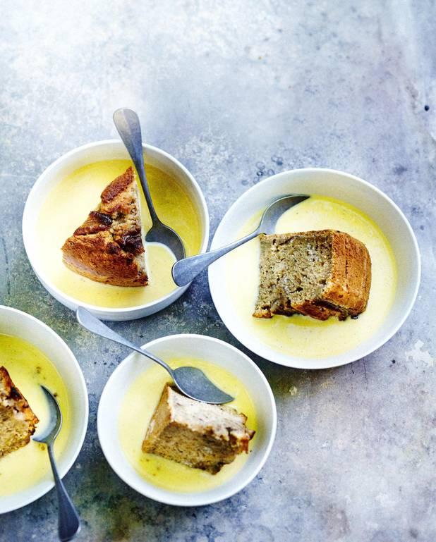 Gâteau banane et noix pour 6 personnes