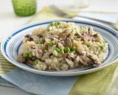 Recette risotto aux petits pois et champignons