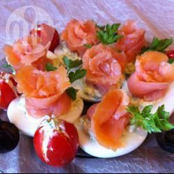 Recette œufs mimosas festifs au saumon fumé – toutes les recettes ...