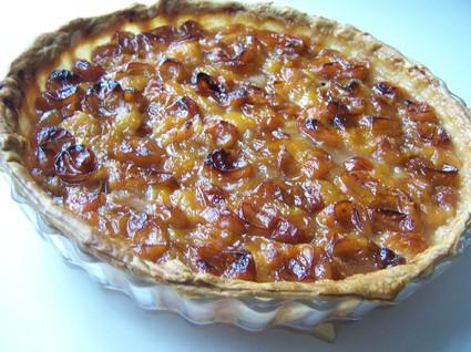 Recette de tarte aux mirabelles, amandes et confiture