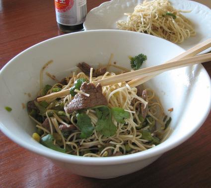 Recette de nouilles chinoises sautées au boeuf