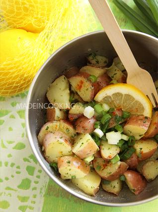 Recette de salade de pommes de terre citronnées
