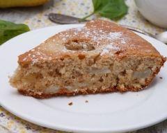 Recette gâteau aux poires et aux noix