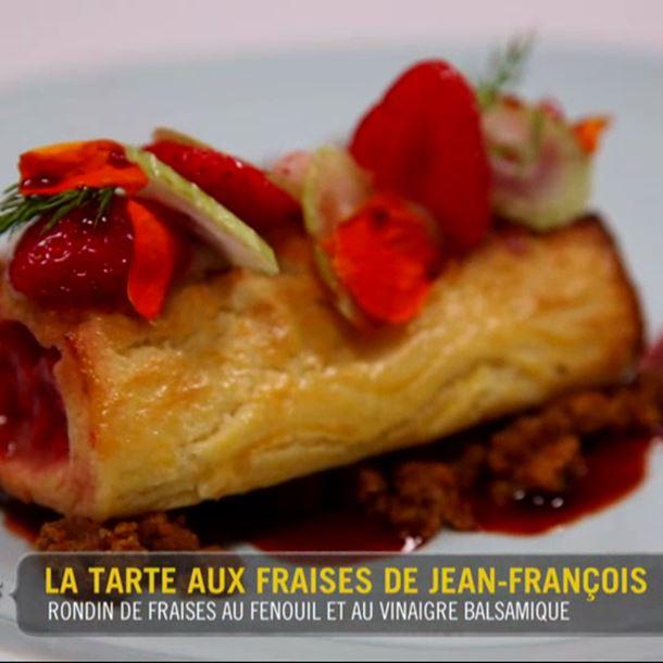 Recette rondin de fraises et fenouil au vinaigre balsamique