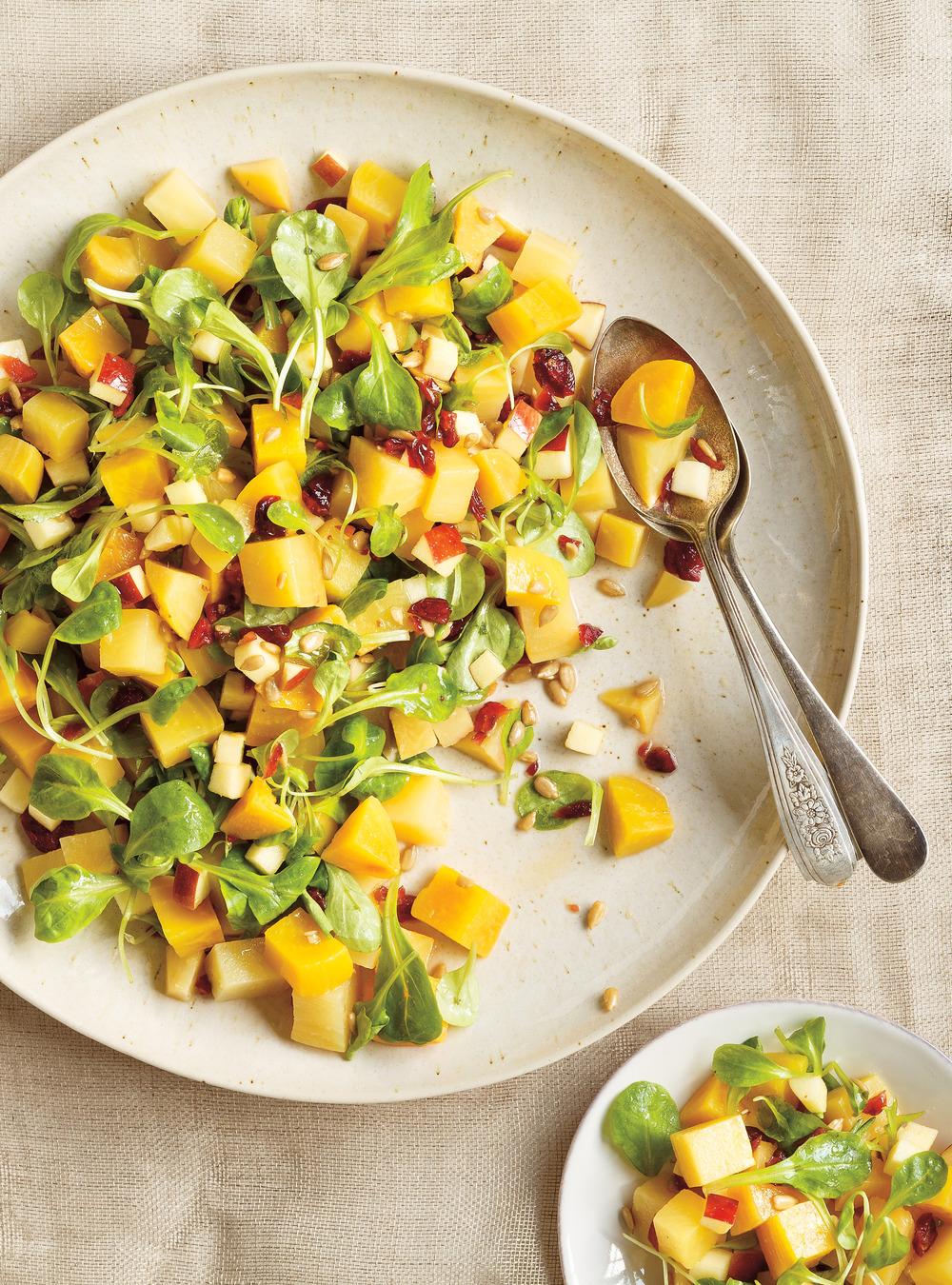 Salade de betteraves aux pommes et aux canneberges | ricardo