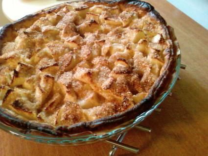 Recette de tarte crousti-fondante aux pommes et amandes