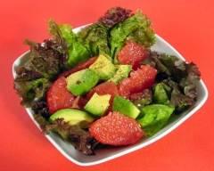 Recette salade d'avocat et pamplemousse