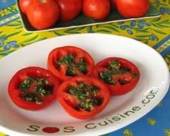 Recette tomates à la salsa verde