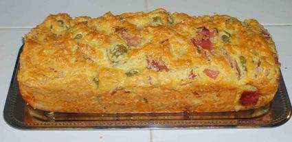 Cake jambon blanc et olives