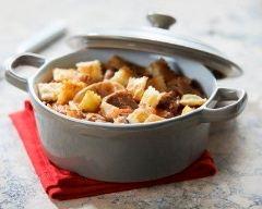 Recette sauté de veau à la tomate, champignons et ravioles à ...