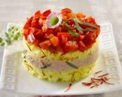 Recette timbales de riz safrané au thon