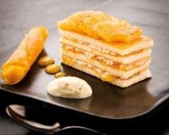 Recette gourmandise d'ananas rôti, confiture à la vanille et espuma ...