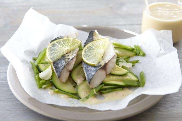 Recette de filet de maquereau aux petits légumes, beurre blanc au ...