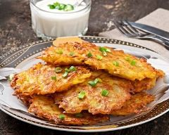 Recette pancakes salés de pommes de terre
