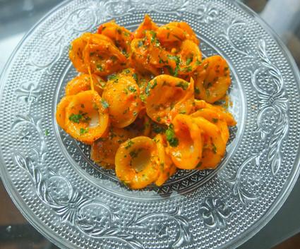 Recette orecchiette sauce poivrons rouges tomates