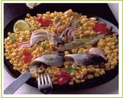 Recette salade de harengs au maïs