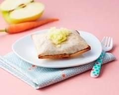 Recette croustillant de légumes et émincé de veau pomme fruit