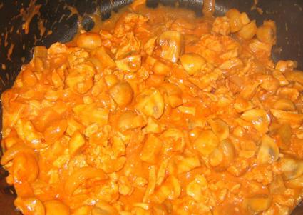 Recette de poulet stroganoff