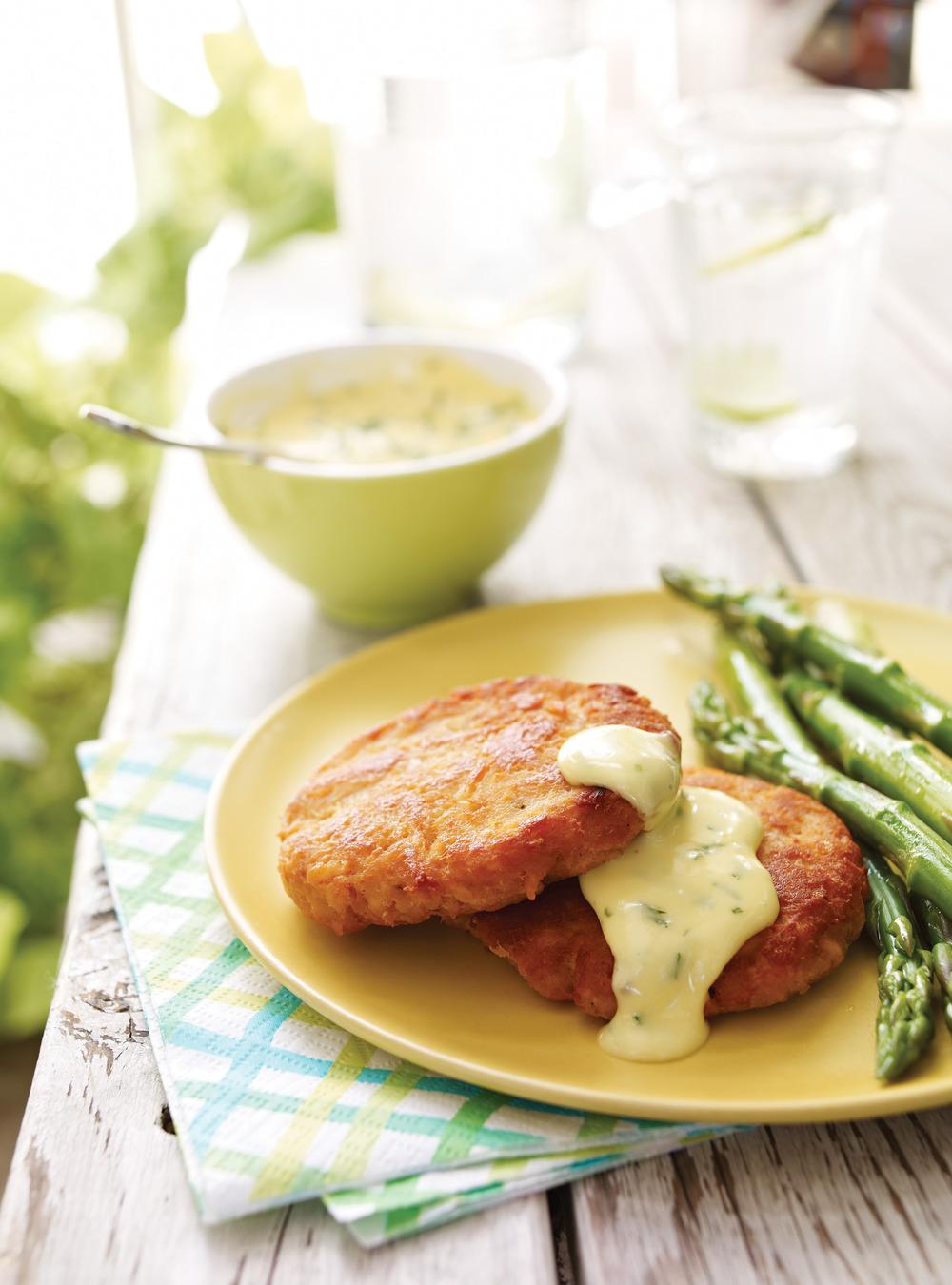 Croquettes de saumon et mayonnaise à l'estragon | ricardo