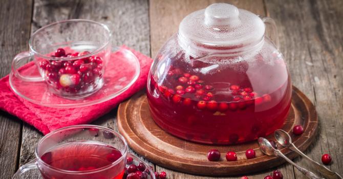 Recette de thé vert anticellulite aux cranberries