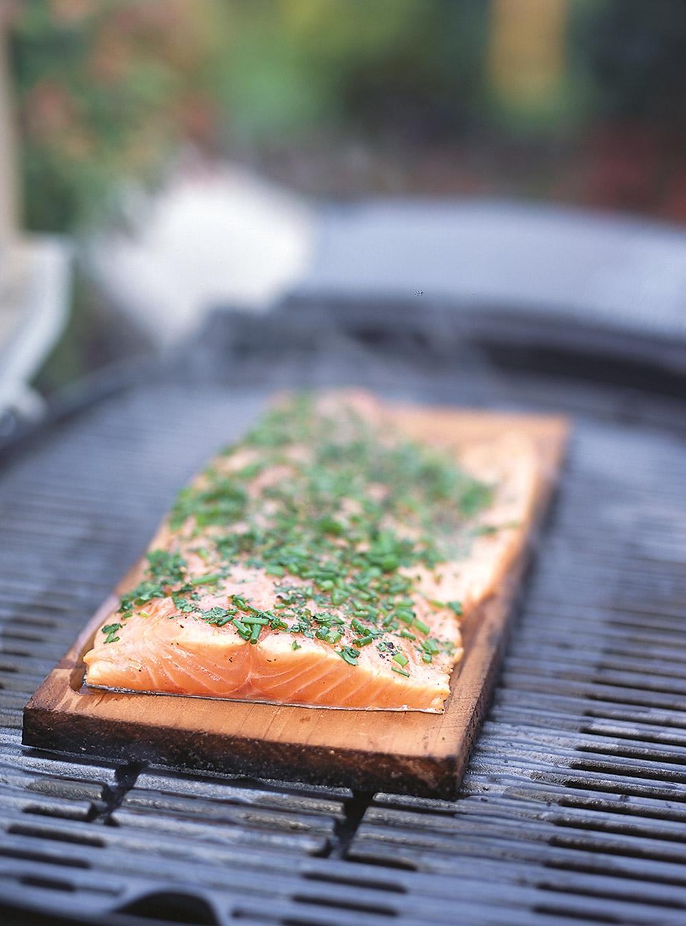 Saumon sur planche d'érable | ricardo