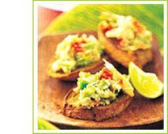 Recette toasts de crabe
