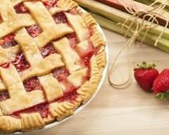 Recette tarte aux fraises et à la rhubarbe