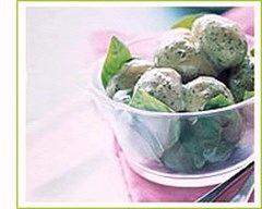 Recette salade de champignons de paris à la crème