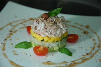 Recette de crabe en salade d'asie