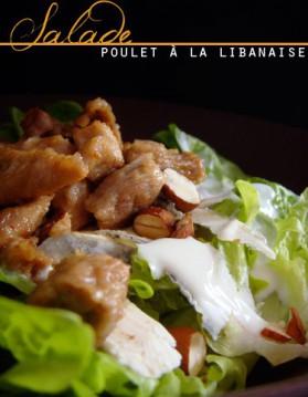 Salade poulet amande et chèvre à la libanaise pour 2 personnes ...