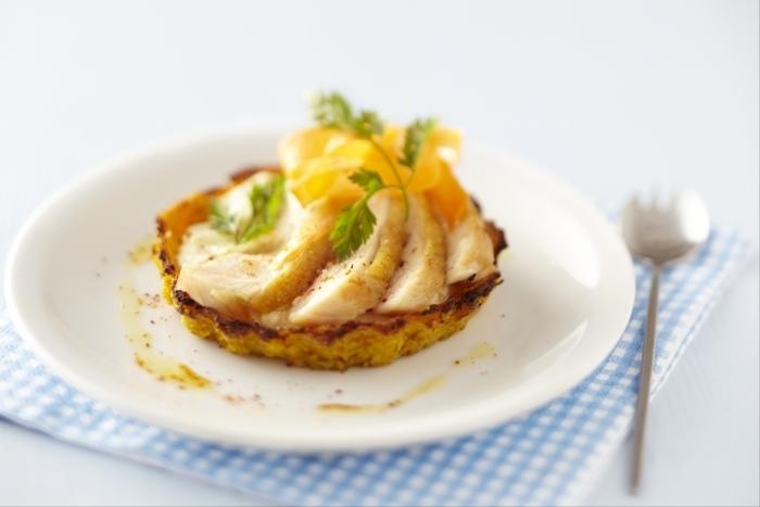 Recette de tartelette carottes-pommes de terre, ricotta et poulet ...