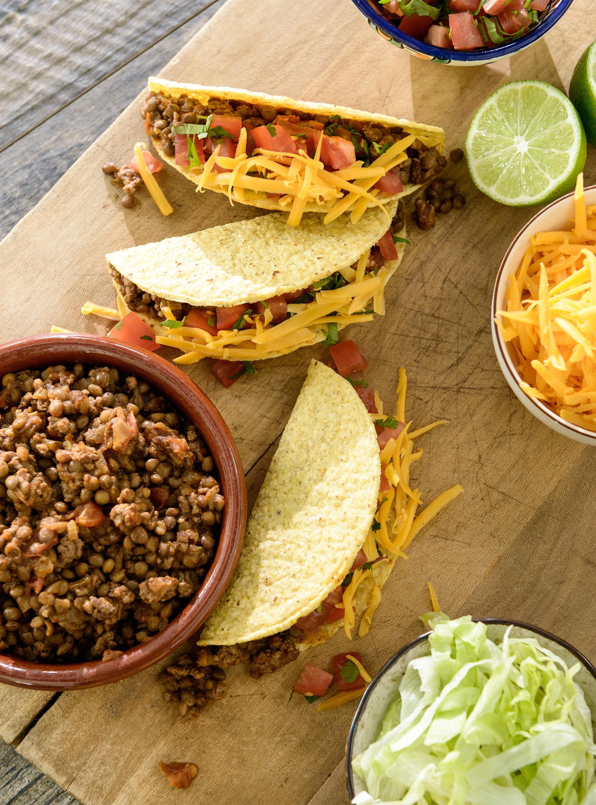 Tacos au bœuf et aux lentilles | ricardo