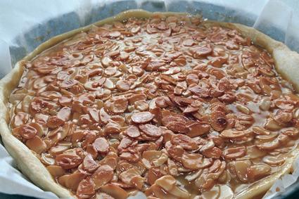 Recette de tarte aux amandes et miel