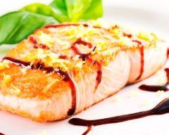 Recette pavés de saumon au vinaigre balsamique